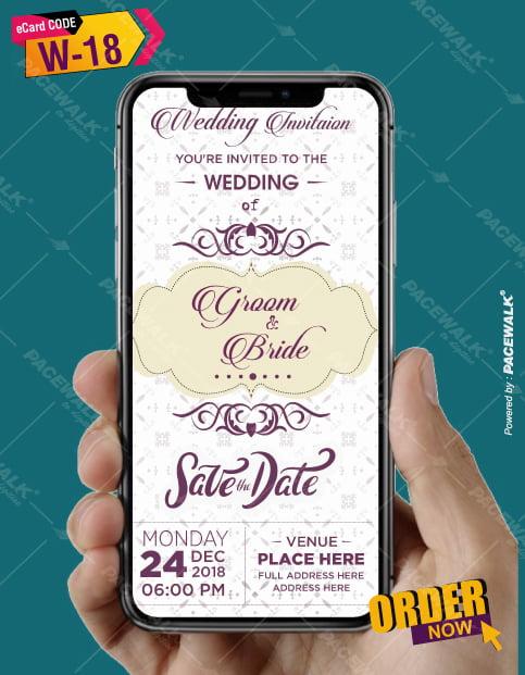 online modern Wedding Invitation eCards