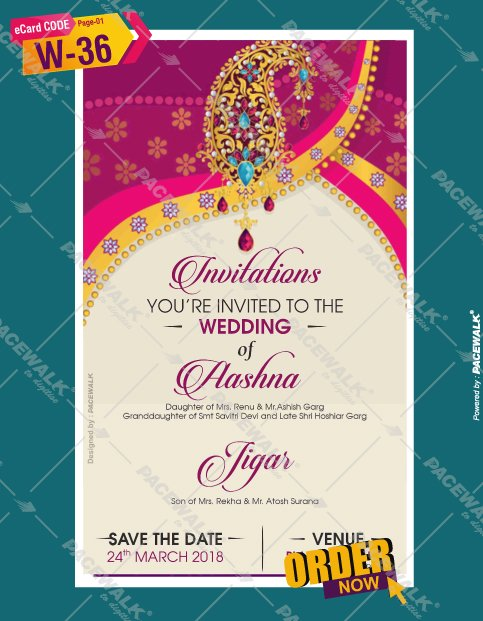 Indian Wedding Invitation Bride Side eCard