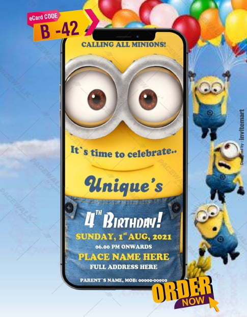 Minion Invitations