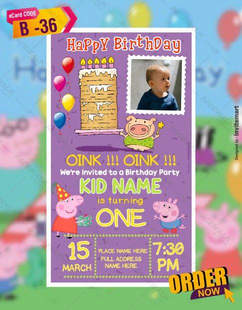 Little Piggy Birthday Party Invitations