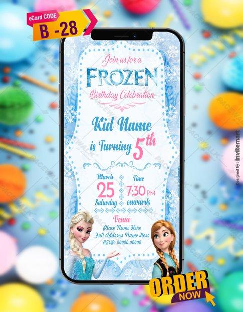 Frozen Birthday Invitation Card Online
