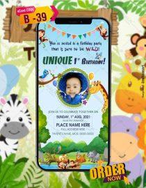 Jungle Birthday Party Invitations