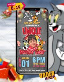 Tom and Jerry Birthday Invite