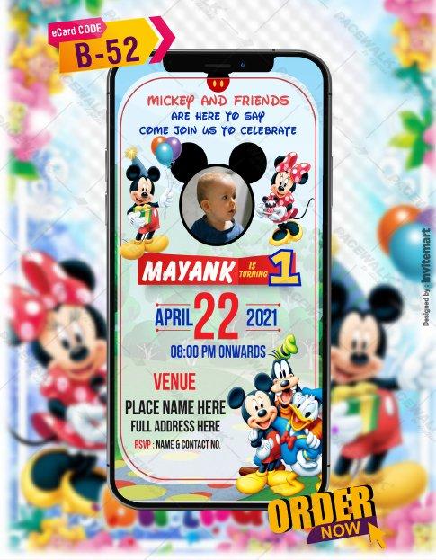 Mickey Mouse Birthday Invitation Templates
