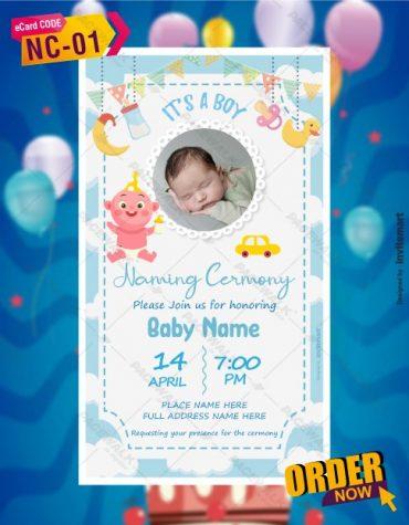 Baby Naming Ceremony Invitation