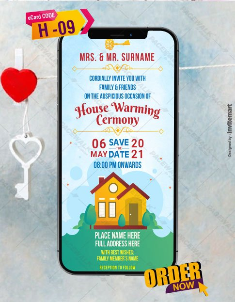 Housewarming Ceremony Invitations