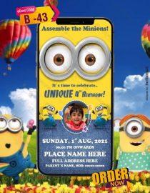 Minions Invitation Card With Photo