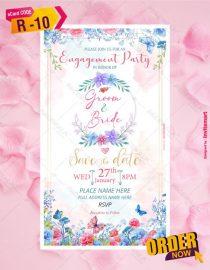 Ring Ceremony Invitation Card