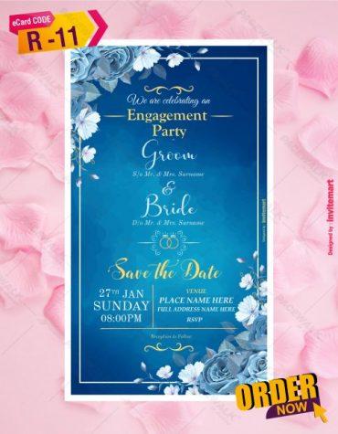 Ring Ceremony Invite Card