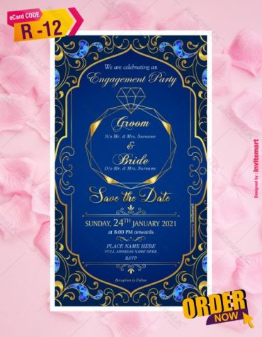 Indian Ring ceremony invite card