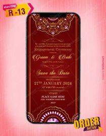 Ring Ceremony Invitation Card Indian