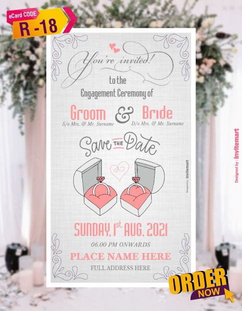 Ring Ceremony invitation cards online