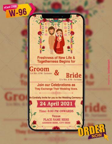 Caricature Wedding Invitation Templates