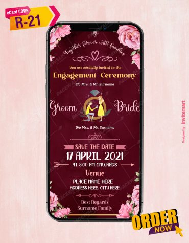Engagement Party Ceremony Invitation