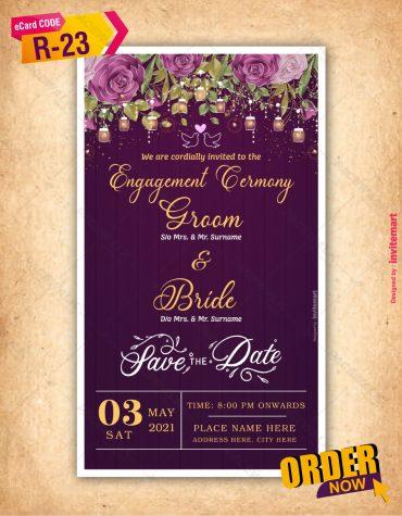 Floral Engagement Invitations