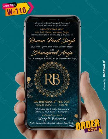 Royal Punjabi Wedding Invitation
