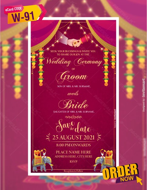 Indian Wedding Invitation Card Templates
