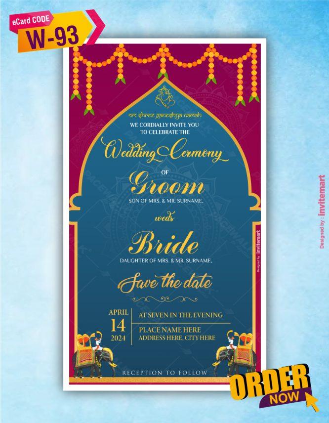 Hindu Wedding Invitation