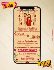 Cartoon Wedding Invitation Templates