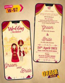 Punjabi Sikh Wedding Card