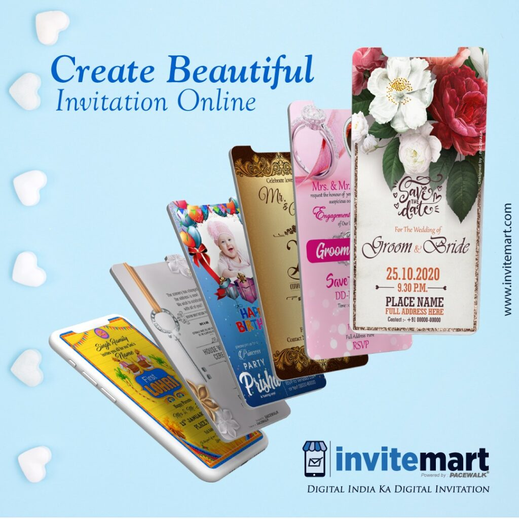 Create wedding invitation card online