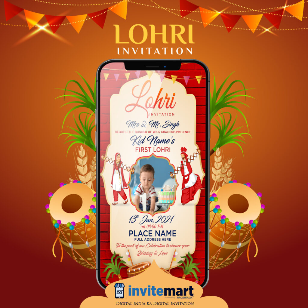 Baby lohri invitation e card