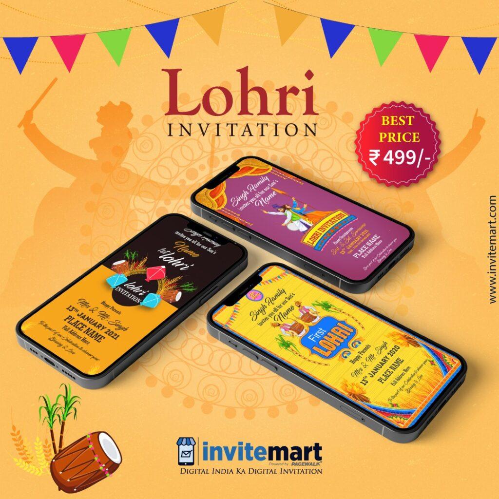 Lohri invitation Card