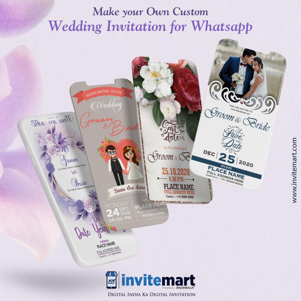 make your own custom wedding invitation mock up