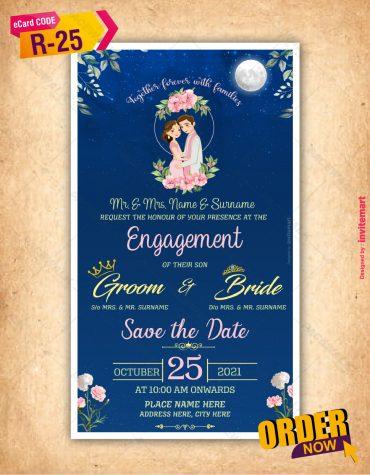 Engagement Invitation night theme