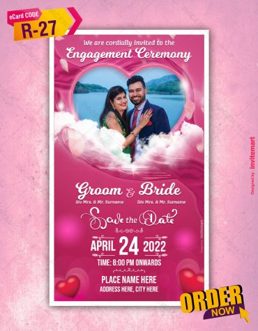 Engagement Invite with photo