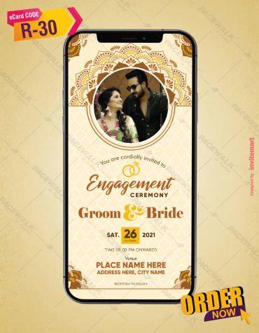 Engagement Ceremony Invitation Card