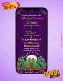 Birds Theme Wedding Invitation Card