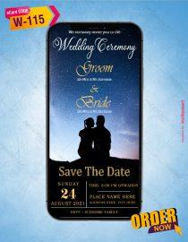 Starry Night Wedding Invitation Card