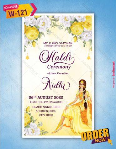 Haldi Ceremony Invitation Card