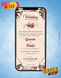 Best floral wedding invitation card