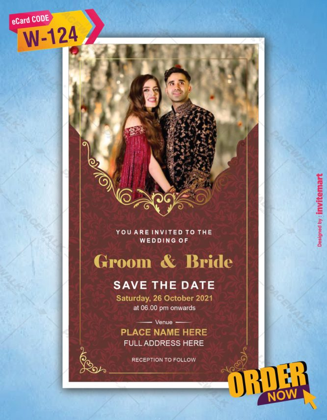 Save the Date Card with Couple Picture