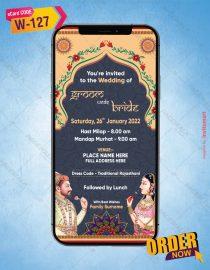 Mughal Art Wedding Invite