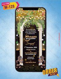 Sangeet Night Invite Card