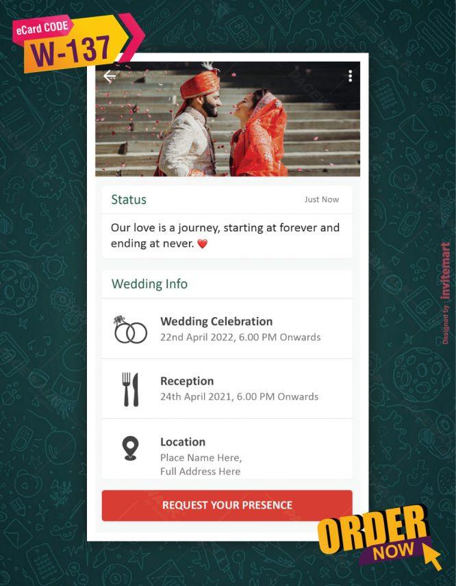 WhatsApp Theme Wedding Invitation