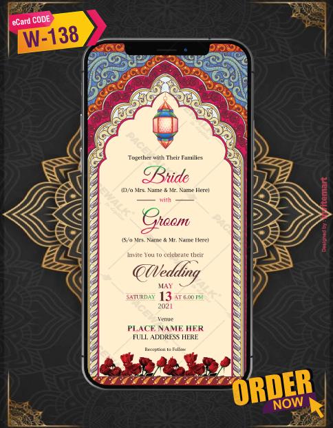 Mandala Theme Wedding Invitation