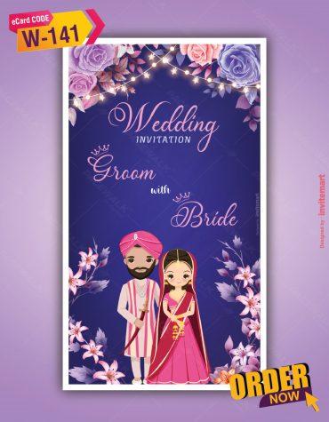 Punjabi Floral Wedding Invitation