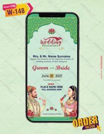Royal Mughal Wedding Invitation