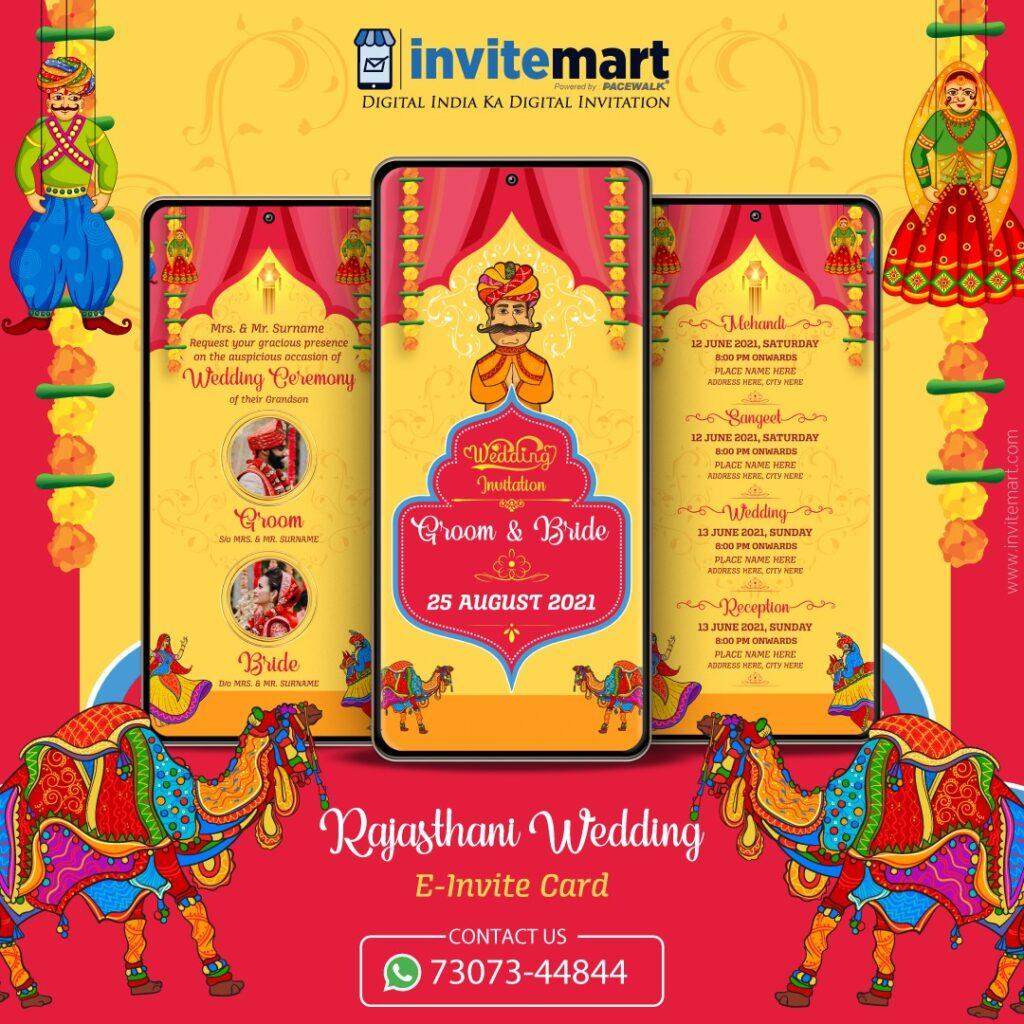 Rajasthani Wedding invitation Ecard