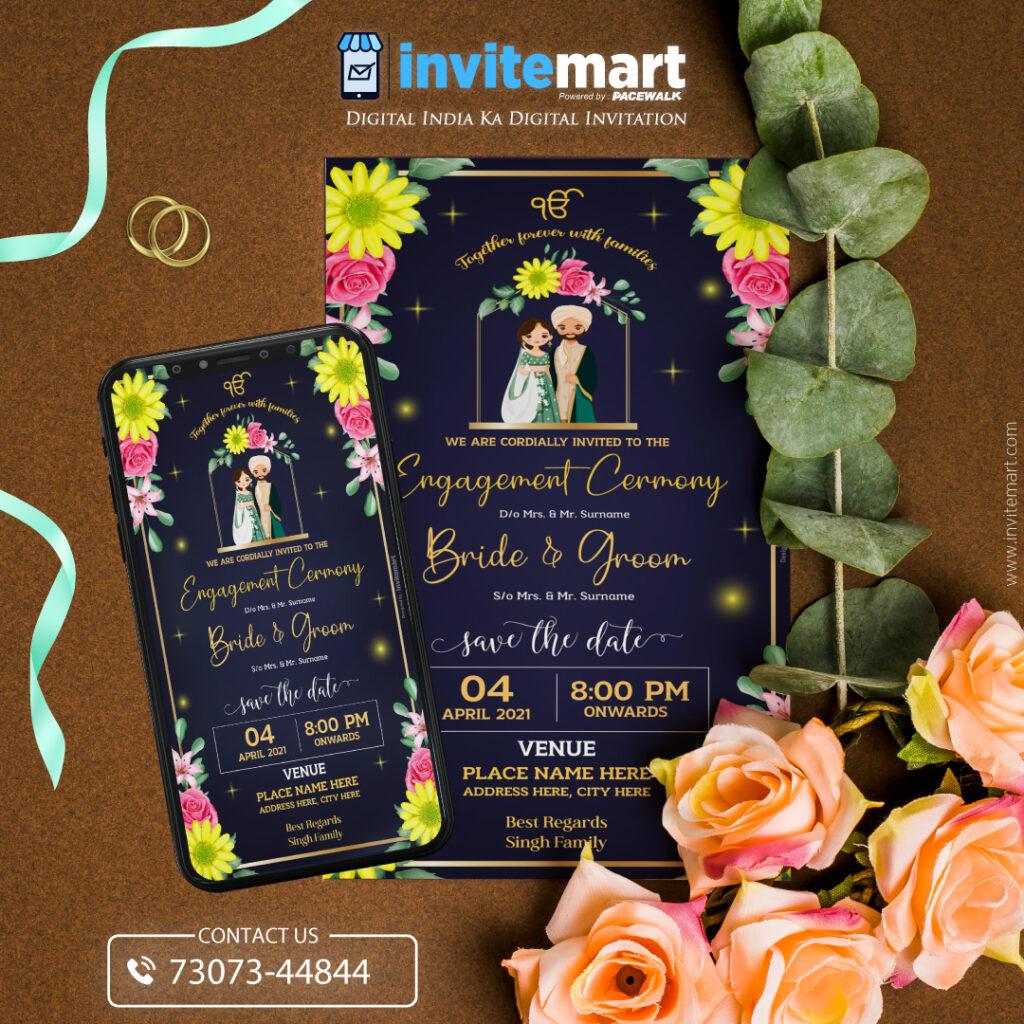 floral engagement-ceremony ecard