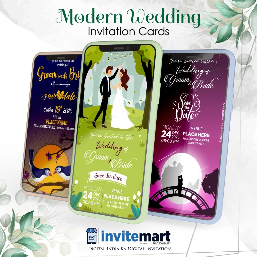 modern wedding invitation card maker