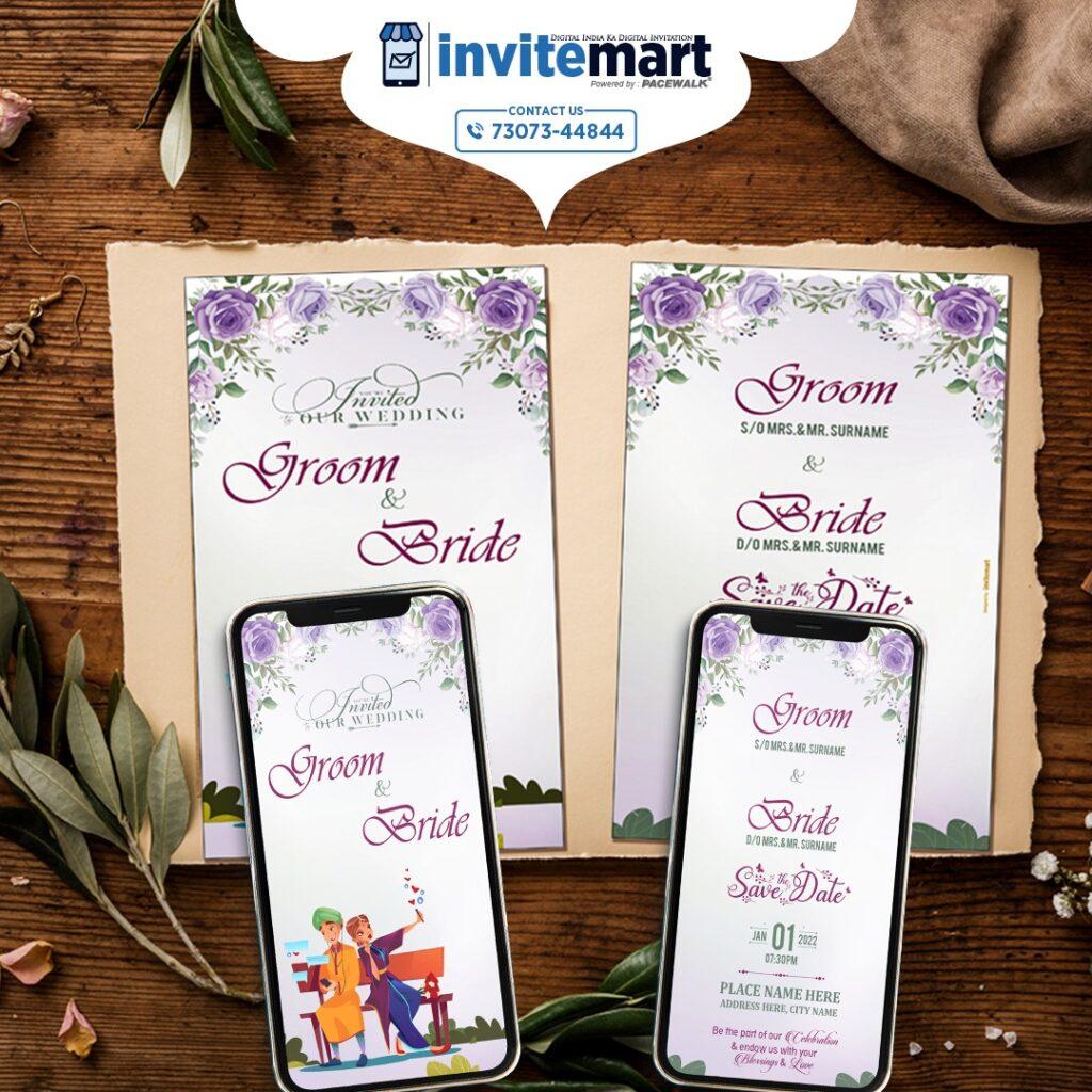 selfie wedding invite ecard