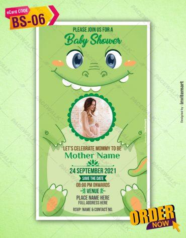 Baby Shower Monster Theme Card