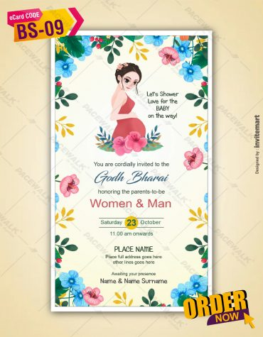 Floral Baby Shower Invitation Ecards