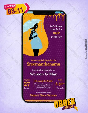 Sreemanthanamu Baby Shower Invitations