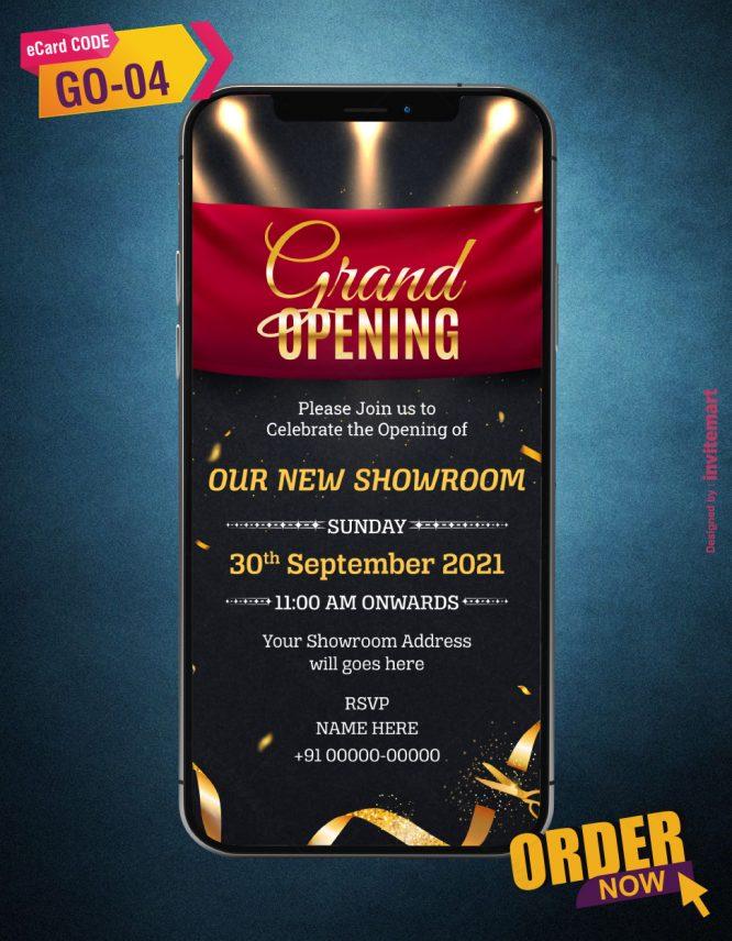Grand Opening Invitation Card Maker